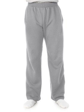 Fruit of the Loom Men's and Big Men's Fleece Open Bottom Sweatpant with Pockets, up to 5XL