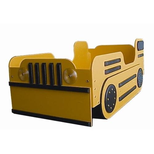 Just Kids Stuff Bulldozer Toddler Bed Yellow
