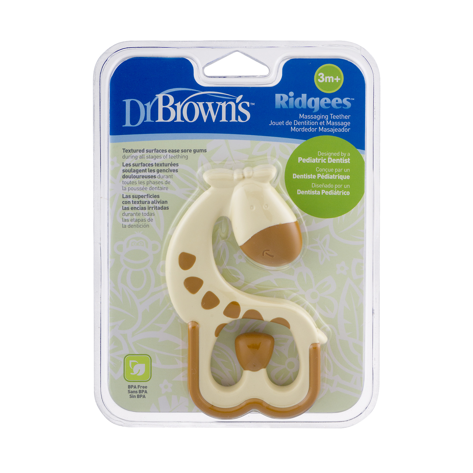 Dr Brown's Ridgees Massaging Teether 3m+, 1.0 CT