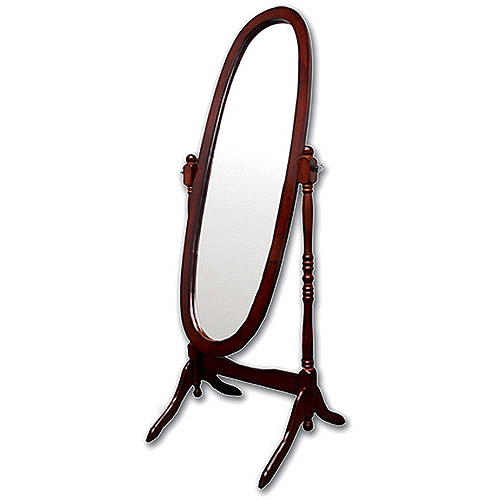 Ore International Wooden Cheval Floor Mirror