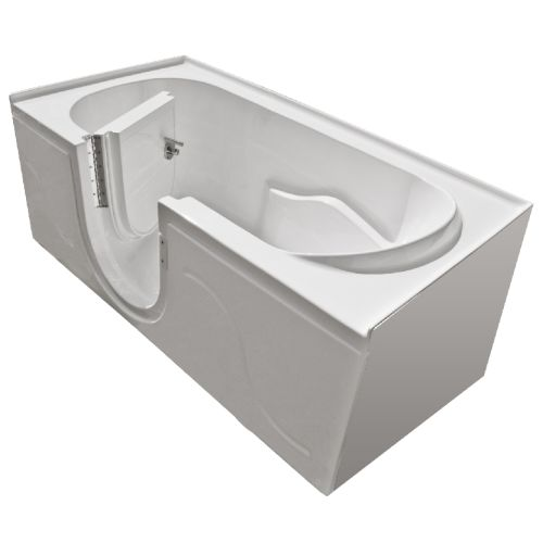 "MediTub 3060SIR-SC 60"" x 30"" Walk In Soaking Tub with and Right-Swing Door from"