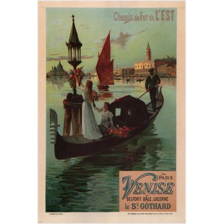 Vintage Ad Poster Eastern Railroad Line F. Hugo D'Alesi France 1890 - Eastern Railroad