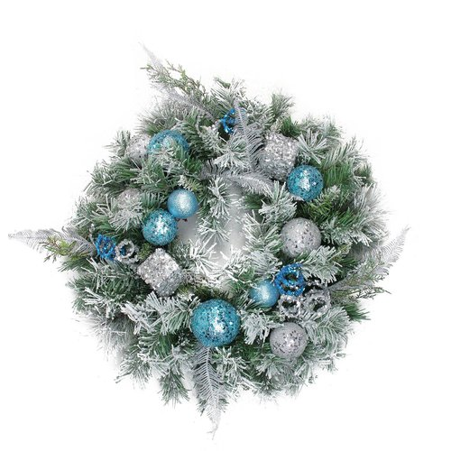 Ophelia & Co. Flocked 24'' Sequin Artificial Pine Wreath