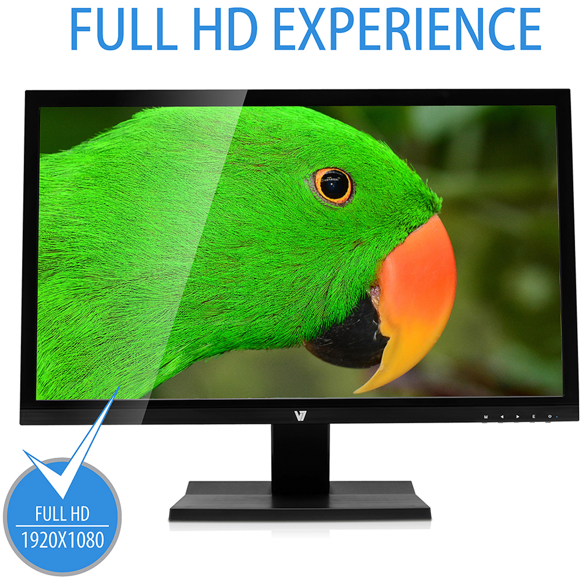 "V7 24"" Full HD Widescreen LED Monitor (L23600WHS-9N Black)"