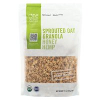 One Degree Organic Foods Sprouted Oat Hemp Granola - Honey - pack of 6 - 11 Oz.
