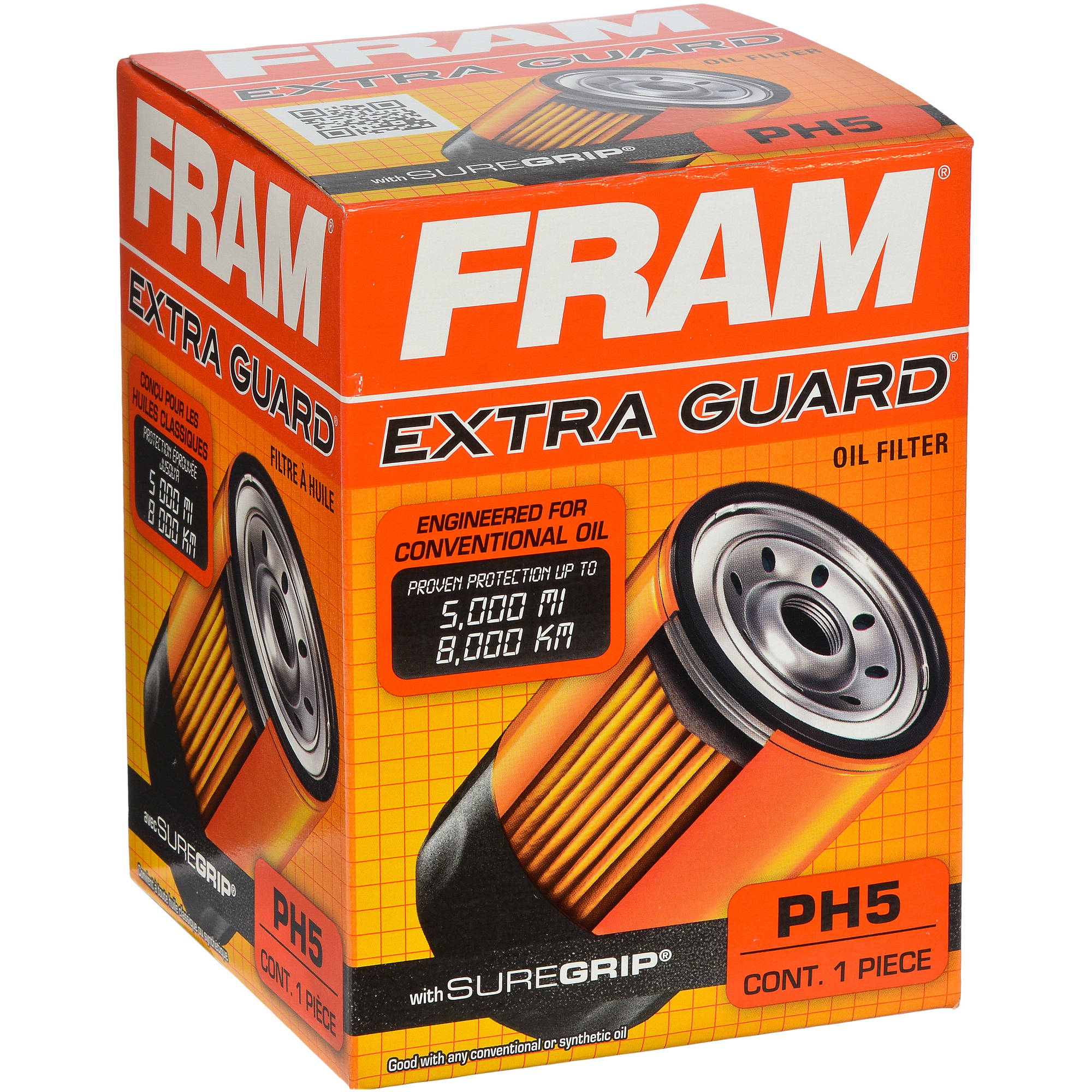 FRAM Extra Guard Oil Filter, PH5