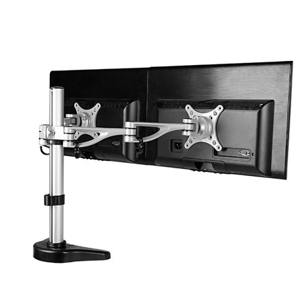 fleximounts m13 clamp dual monitor arm desk mounts monitor stand for 10 27 lcd computer. Black Bedroom Furniture Sets. Home Design Ideas