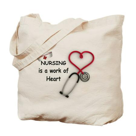 CafePress - Nurses Work Of Heart - Natural Canvas Tote Bag, Cloth Shopping Bag