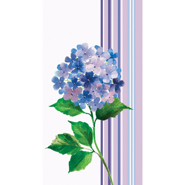 Club Pack of 192 Hydrangea Stripe Purple Premium 3-Ply Di...