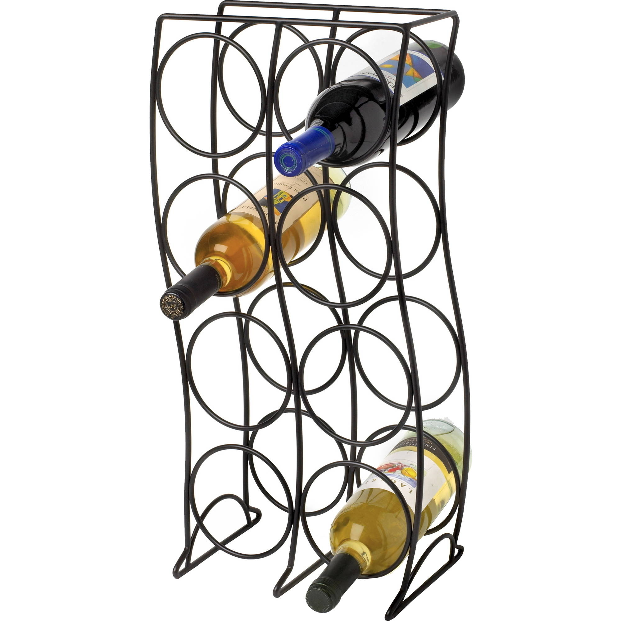 Curve 8Bottle Wine Rack Black by Spectrum Diversified Designs