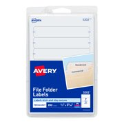 Avery File Folder Labels, Permanent Adhesive, 1/3 Cut, 252 Labels (5202)