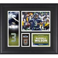 "Russell Wilson Seattle Seahawks Framed 15"" x 17"" Player Collage with a Piece of Game-Used Football"
