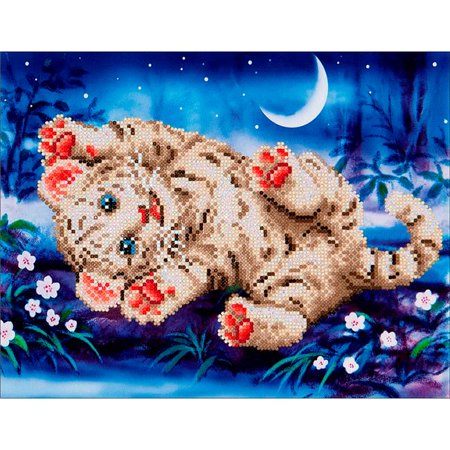Faceted Tiger - Diamond Dotz Diamond Embroidery Facet Art Kit - Baby Tiger Roly Poly