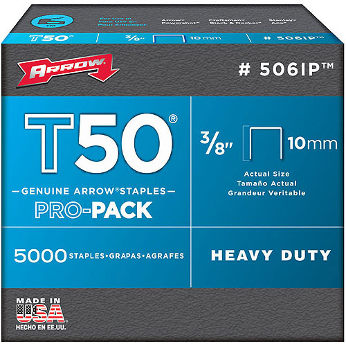 "Arrow Fastener Co. 506IP 3/8"" T50 Staples"