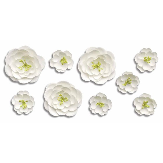 6b1ef6400 Roommates White Blossom Branch Peel and Stick Giant Wall Decals with Flower  Embellishments - Walmart.com