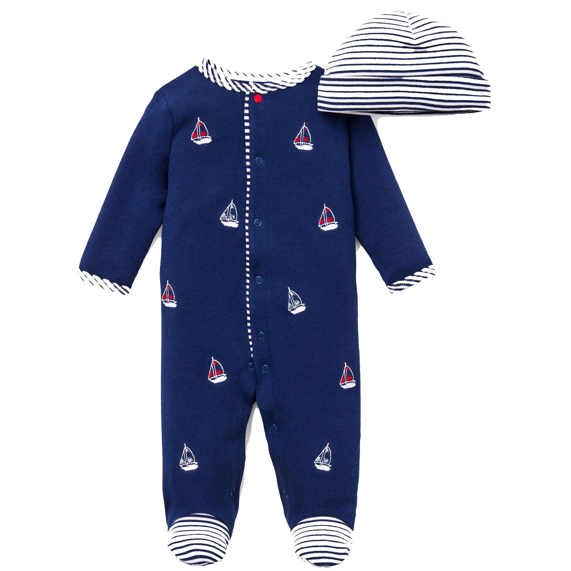Little Me Baby Girls Footie Footed Sleeper Pajamas