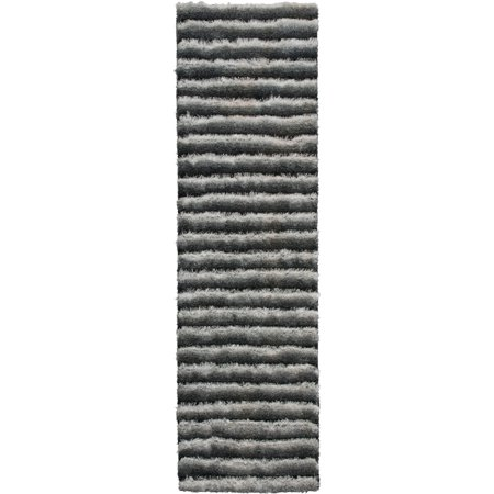 Nourison Urban Safari Shag Runner Rug, Chinchilla, 2'3