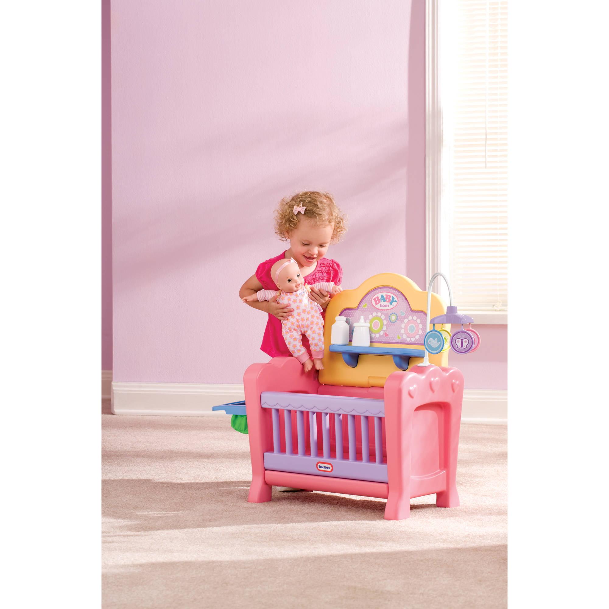 Picture of: Little Tikes 4 In 1 Baby Born Nursery Play Set Walmart Com Walmart Com