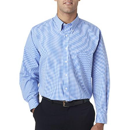 01e98539cfa8d6 Van Heusen - Van Heusen Men's Long-Sleeve Yarn-Dyed Gingham Check -  PERIWINKLE - 3XL V0225 - Walmart.com