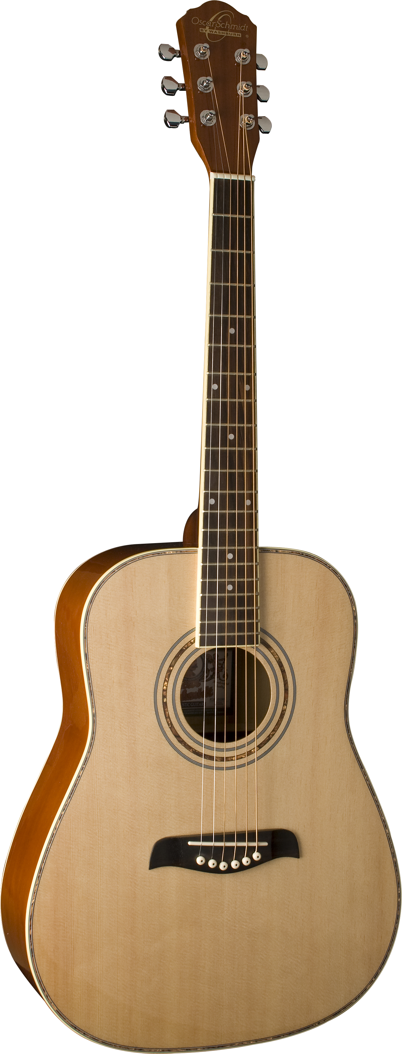 Oscar Schmidt OG1LH Natural Lefty 3 4 Size Dreadnought Guitar. Left hand by KMC Music