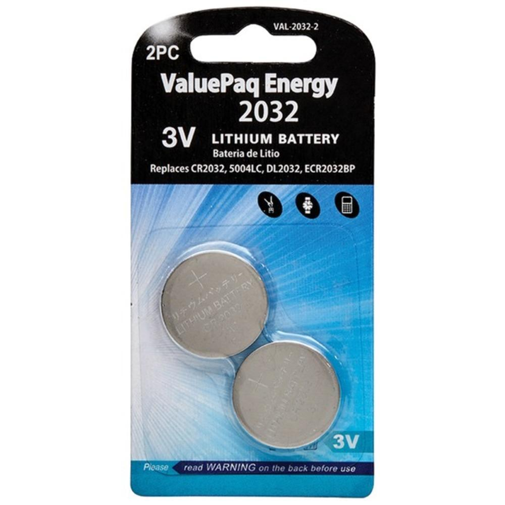 Dantona[r] Val-2032-2 Valuepaq Energy 2032 Lithium Coin Cell Batteries, 2 Pk
