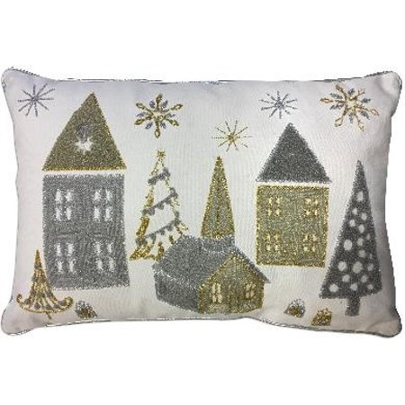 Better Homes & Gardens LED House Holiday Pillow
