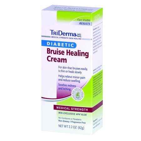 Triderma Diabetic Bruise Defense Healing Cream  2 2 Oz