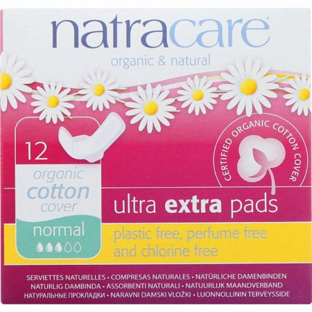 Natracare Ultra Extra Pads W/wings - Normal - 12