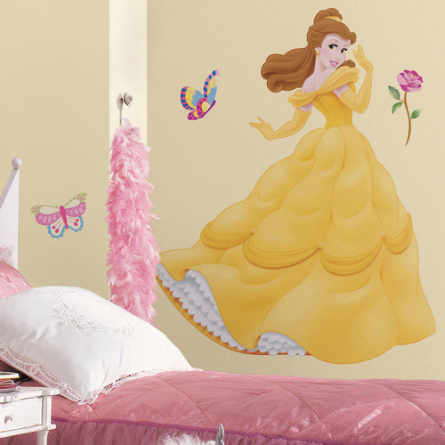 Room Mates Licensed Designs 35 Piece Belle Giant Wall Decal Set