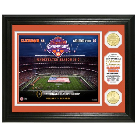 Clemson Tigers Highland Mint College Football Playoff 2018 National Champions 13'' x 16'' Commemorative Bronze Coin Photo Mint - No Size