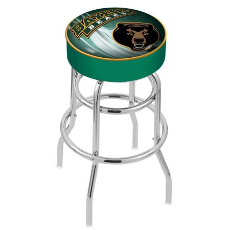 Baylor 25 Inch L7C1 Cushion Seat With Double Rung Chrome Base Bar Stool Double Adjustable Bar Stool