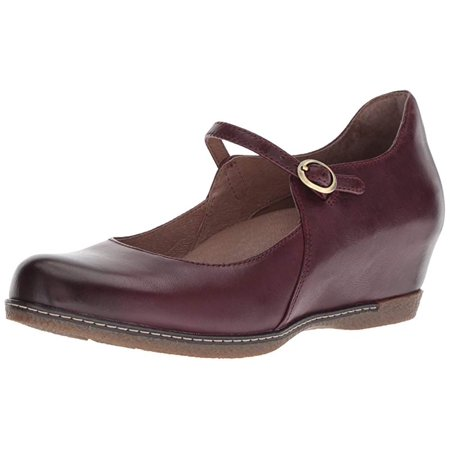 Dansko Women's Loralie Burnished Calf, Wine, 36 B(M) EU ()