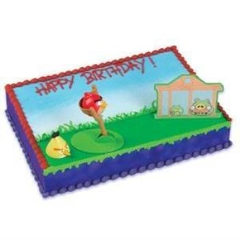 Angry Birds Party Supplies Cake Topper Decorating Kit
