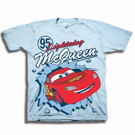 - Disney Cars Toddler Boys' #95 Lightening McQueen Pop Out Short Sleeve Graphic T-Shirt