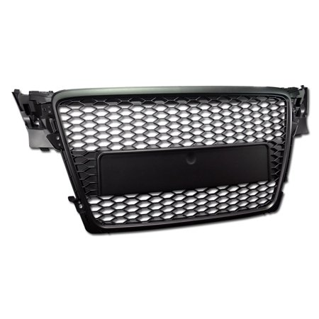 RL Concepts BLK HONEYCOMB MESH FRONT HOOD BUMPER GRILL GRILLE COVER ABS NEW 09-12 AUDI A4 B8