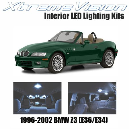 Xtremevision Led For Bmw Z3  E36 34  1996 2002  4 Pieces  Cool White Premium Interior Led Kit Package   Installation Tool