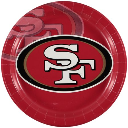 San Francisco 49ers 8-Pack Dinner Plates - No Size - San Francisco Halloween Dance Party