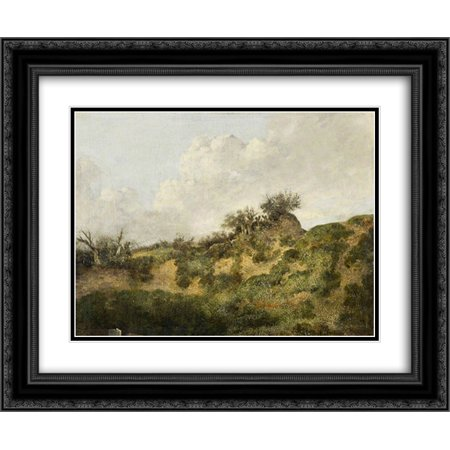 John Crome 2X Matted 24X20 Black Ornate Framed Art Print A Sandy Bank