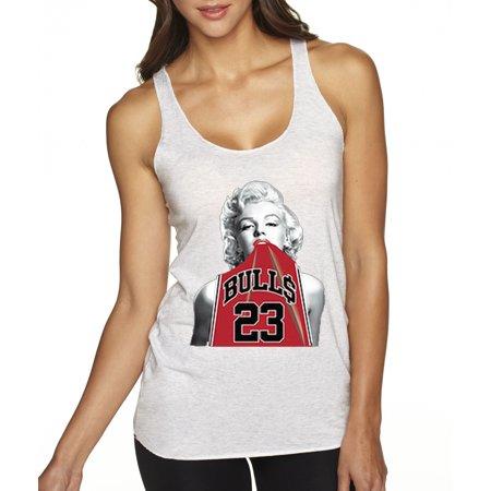 d2b25bd08d8b New Way - New Way 419 - Women s Tank-Top Marilyn Monroe Bulls 23 Jordan Red  Jersey - Walmart.com