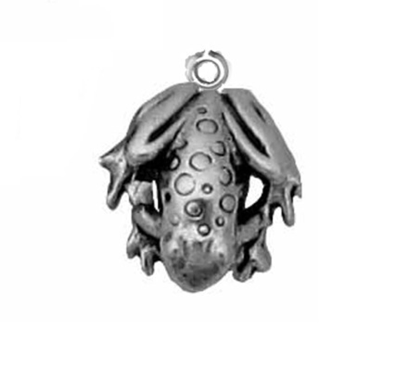 Sterling Silver 7 4.5mm Charm Bracelet With Attached 3D Pet Dog Bone Charm
