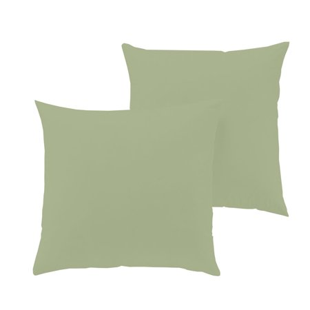 """The Great American Store Hand Made Indoor/Outdoor 6D Set of 2 Solid Euro Pillows- Sage (15"""" X 15"""") for Decorative bed Pillow Shams - Hypoallergic, Down Alternative Fill"""