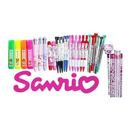 Sanrio Stationery - Sanrio Characters Wonderful 12-pc Stationery and Accessory Assorted Set Bundle
