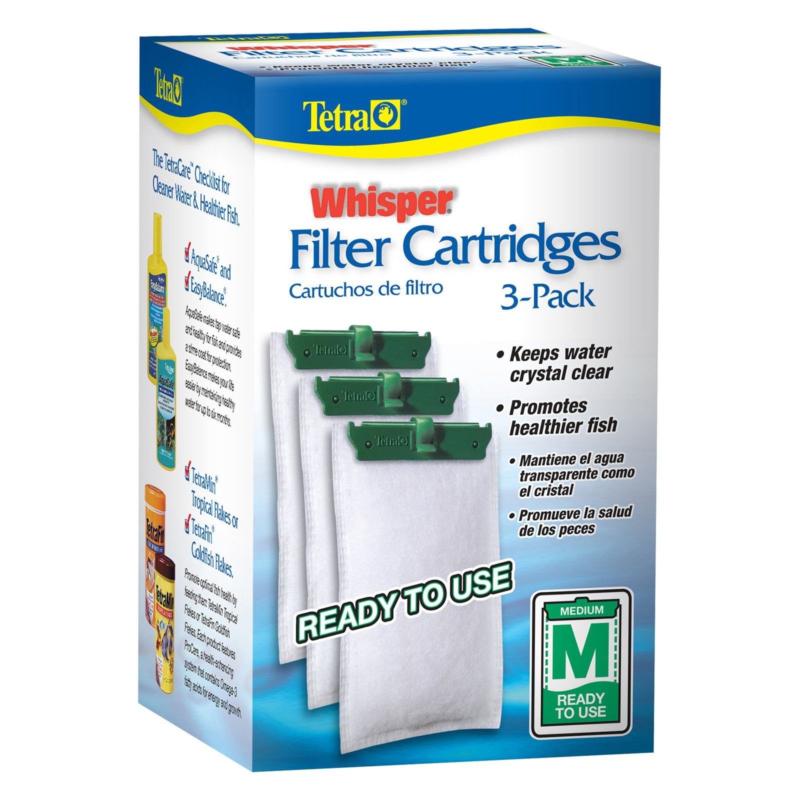 Tetra Whisper Replacement Carbon Filter, Medium 5-15, 3-Count