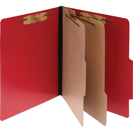 Executive Folder - ACCO ColorLife PRESSTEX Classification Folders, Letter, 6-Section, Exec Red, 10/Box