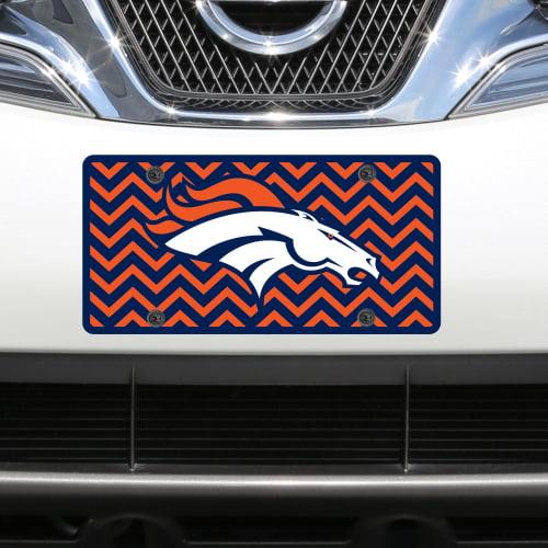 Denver Broncos Chevron Acrylic Laser Cut Plate - No Size