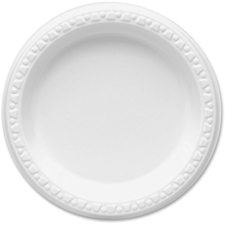 Tablemate Party Expressions Plastic Plates, White, 125 / Pack ...