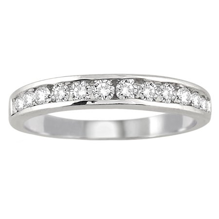 1 2 Carat Tw Channel Set Diamond Band In 10K White Gold