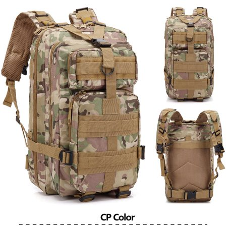 3P Marching Backpack Outdoor War Game Shoulder Bag 30L CP Camouflage ()