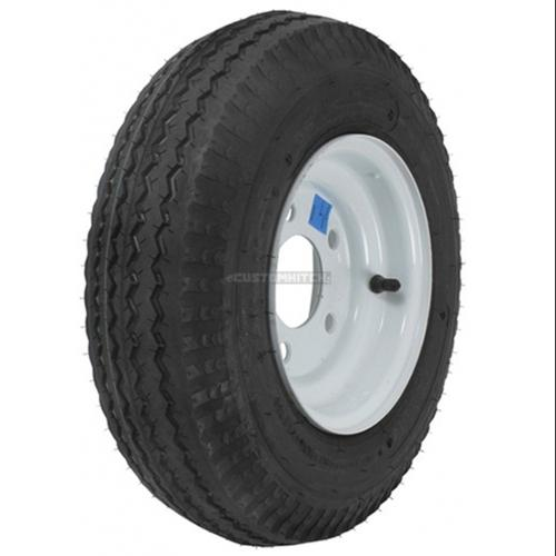 LRB 5 Lug Galv Two Utility Trailer Tires On Rims 4.80-12 480-12 4.80X12 12 in