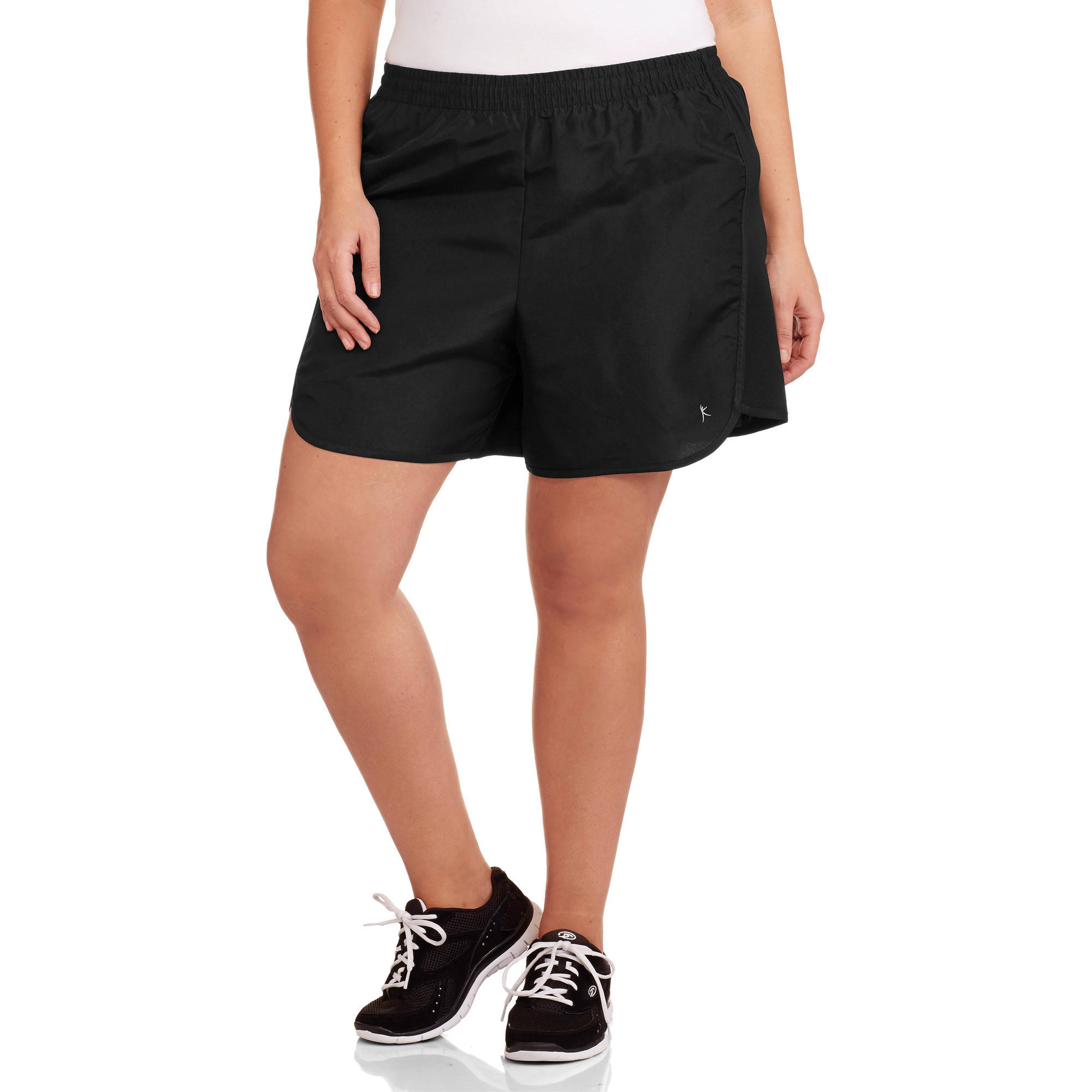 Danskin Now Women's Plus-Size Basic Running Shorts with Side Panel